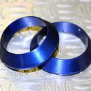 Tope de enrollado cónico de aluminio Azul DI=7,5, DE=14, G=4