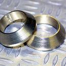 Tope de enrollado cónico de aluminio Oro claro DI=17, DE=23, G=5,5
