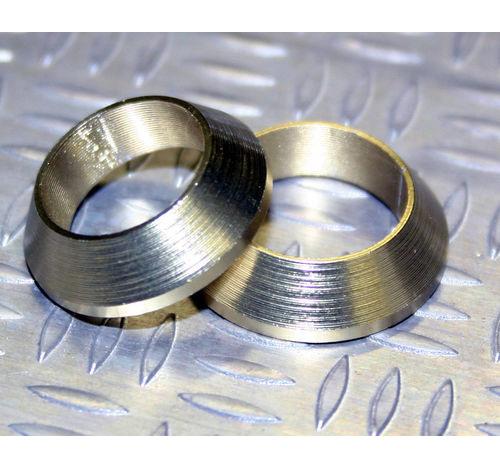 Tope de enrollado cónico de aluminio Oro claro DI=18, DE=24, G=5,5