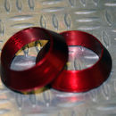 Tope de enrollado cónico de aluminio ROJO DI=12,5, DE=19, G=5