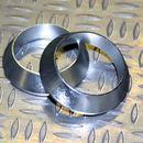 Tope de enrollado cónico de aluminio Plateado DI=17, DE=23, G=5,5