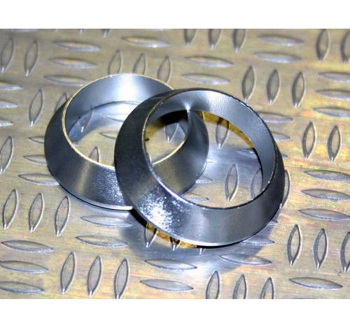 Tope de enrollado cónico de aluminio Plateado DI=18, DE=24, G=5,5