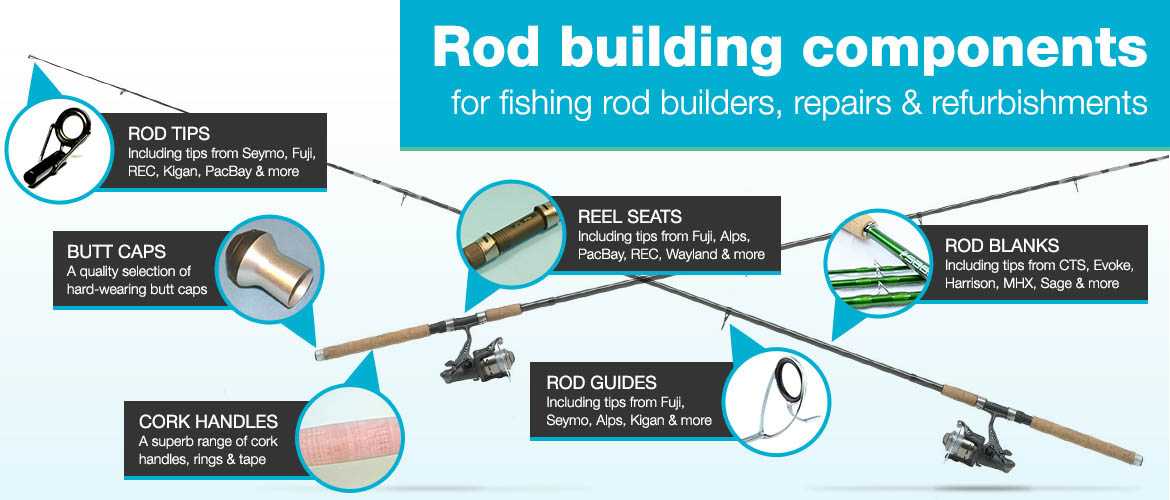 Rod building components for fishing rod builders, repairs